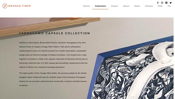 Orange Fiber website screenshot