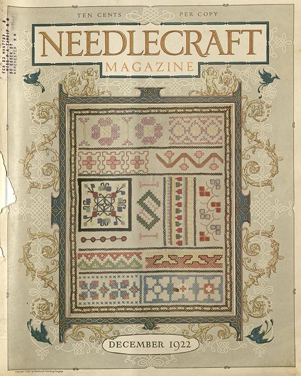 Needlecraft Magazine; Cover (December 1922); Missouri Historic Costume and Textile Collection, University of Missouri, Columbia