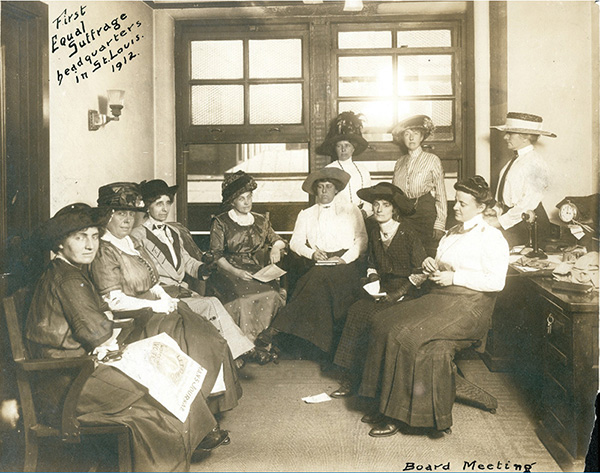 First Equal Suffrage Headquarters in St. Louis in 1912
