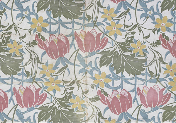 Roller Printed Design for Woven Textile by Lindsay Phillip Butterfield (ca 1905); © Victoria and Albert Museum, London