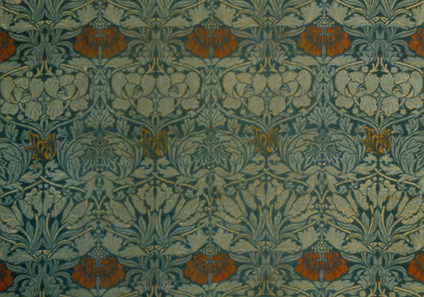 """Wool Textile with """"The Tulip and Rose"""" Design by William Morris (ca 1876); Museum of Art and Archaeology, University of Missouri, Columbia"""