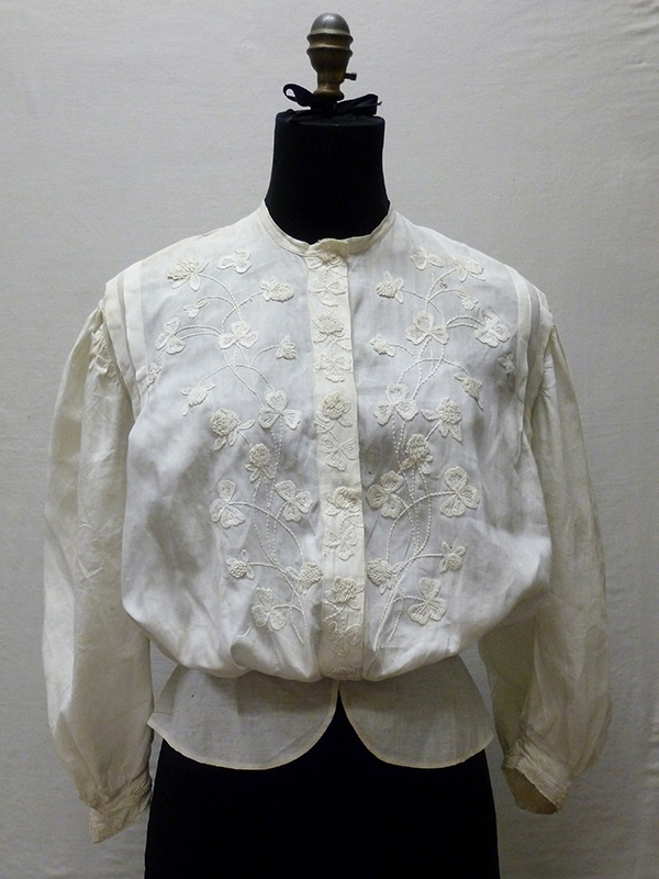Hand Embroidered Cotton Blouse (1895-1905); Missouri Historic Costume and Textile Collection, University of Missouri, Columbia