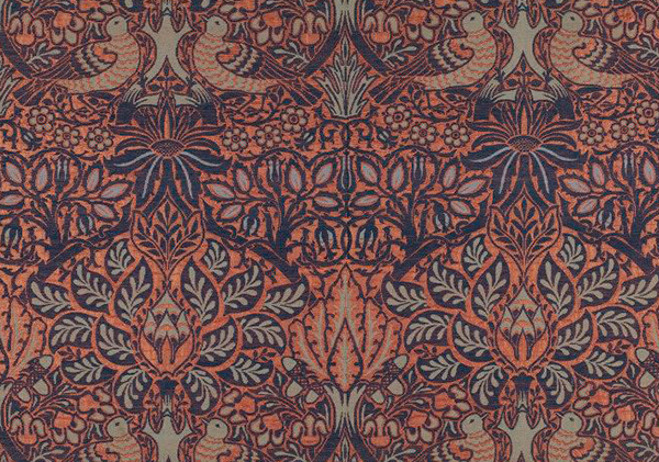 """Woven Wool and Silk Furnishing Fabric – """"Dove and Rose"""" Design by William Morris (1879); © Victoria and Albert Museum, London"""