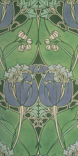 Watercolor Design for Woven Textile by Lindsay Phillip Butterfield (ca 1905); © Victoria and Albert Museum, London