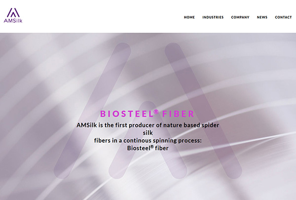 AMSilk website screenshot