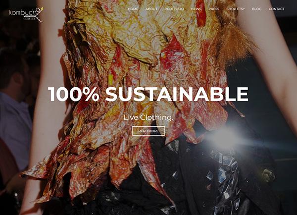 Kombucha Couture website screenshot