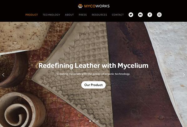 MYCELIUM website screenshot