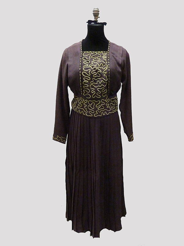 Wool Bodice and Skirt with Appliqué (1910s); Missouri Historic Costume and Textile Collection, University of Missouri, Columbia