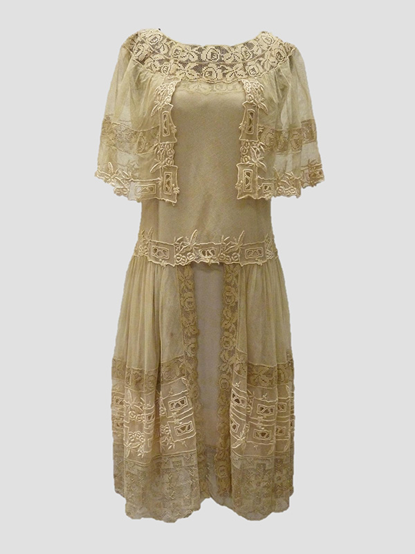 Embroidered Silk Chiffon and Net Dress (Early 1920s); Missouri Historic Costume and Textile Collection, University of Missouri, Columbia