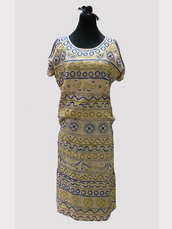 Embroidered Cotton Dress (1920s); Missouri Historic Costume and Textile Collection, University of Missouri, Columbia