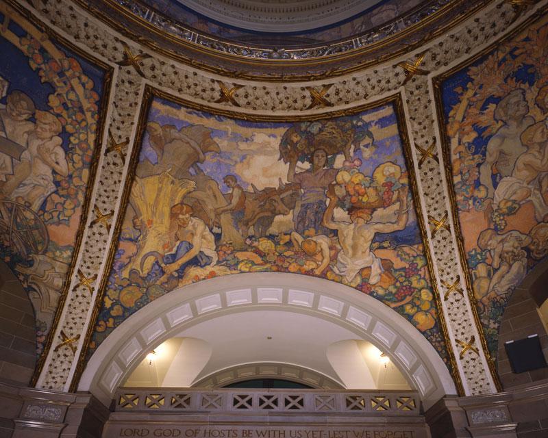 Rotunda Mural by Frank Brangwyn, Missouri State Capitol Building (1917) © MSA & MO State Capitol Commission