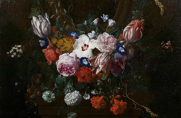 'Flowers Beneath a Cartouche' by Nicolas van Veerendael (1676) © Victoria and Albert Museum, London