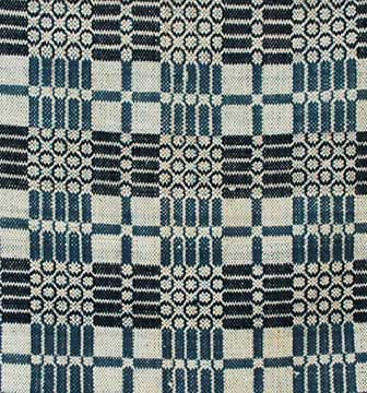 Cotton Coverlet; c. 1850s-60s; Gift of Ray