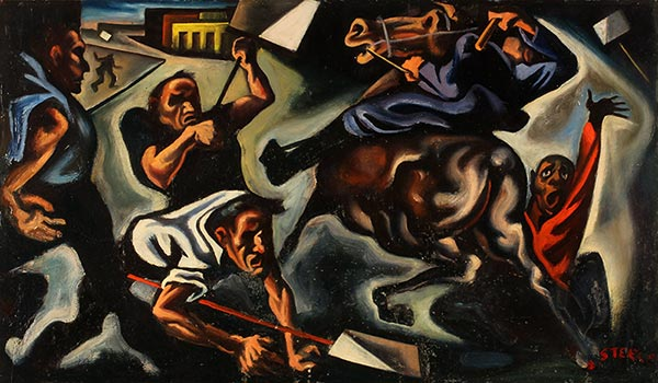 'Battle of the Overpass'; by Jack Keijo Steele (ca 1938) Museum of Art and Archaeology, University of Missouri