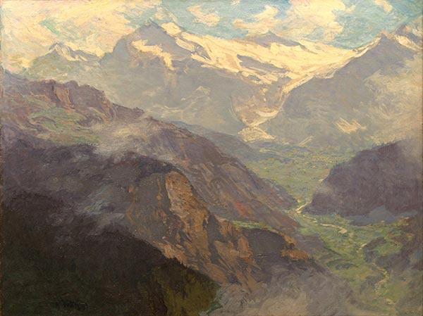 <em>The Alps</em> by Edward Henry Potthast (1882-1889?) Museum of Art and Archaeology, University of Missouri
