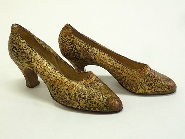 Embossed Leather Shoes, Italy (1920s) Missouri Historic Costume and Textile Collection, University of Missouri