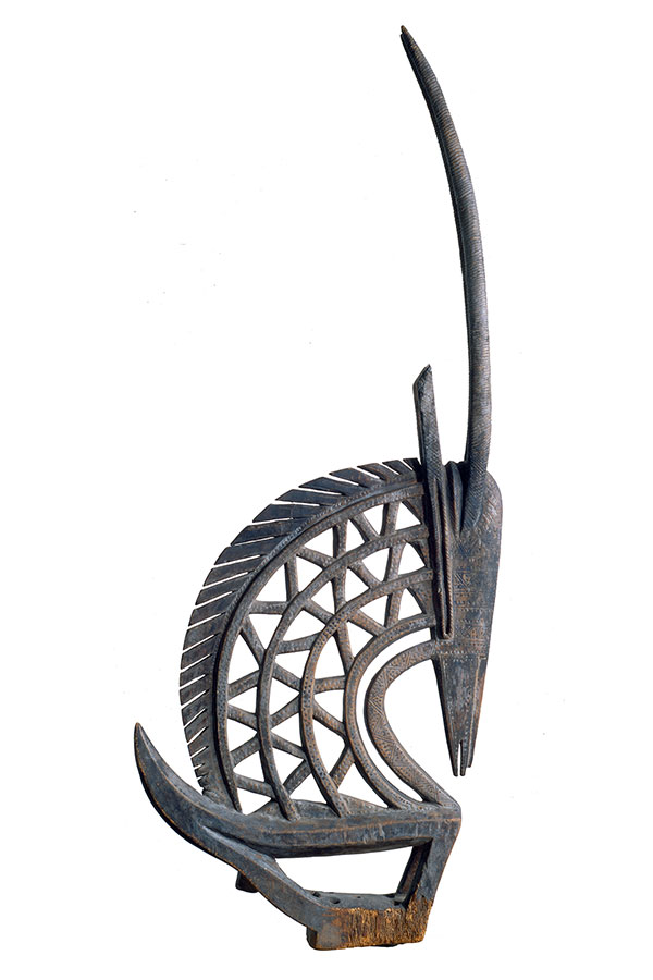 'Headcrest in the Form of an Antelope ('chi wara')' Bamana Culture (1st half of 20th century?) Museum of Art and Archaeology, University of Missouri