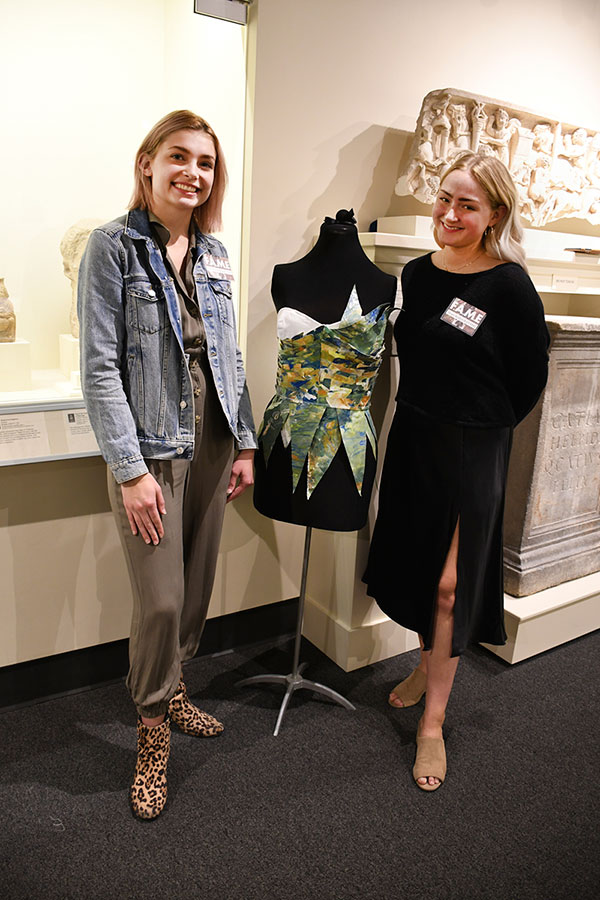 Left to Right: Mary Hershberger and Hope Beykirch with 'The Archer's Ring' Bodice (2019) Photograph by Thomas Sharenborg, Rocheport, Missouri
