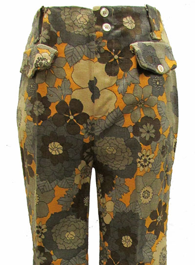 Floral Cotton Denim Jeans (1960s) Gift of Rogers