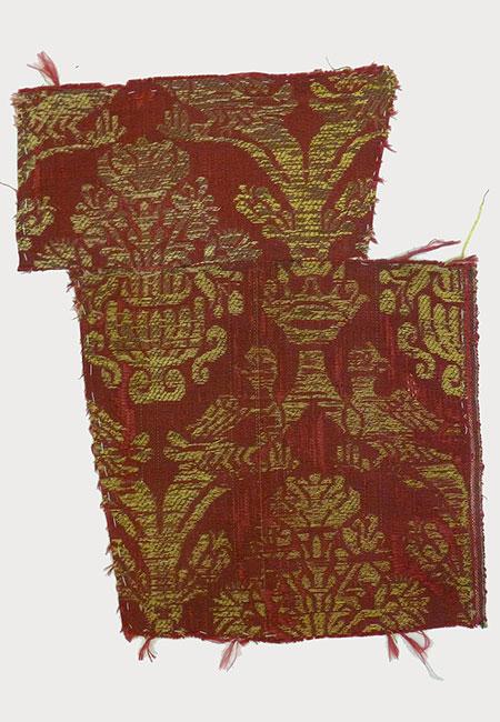 Woven Textile Fragment (18th Century) Missouri Historic Costume and Textile Collection, University of Missouri