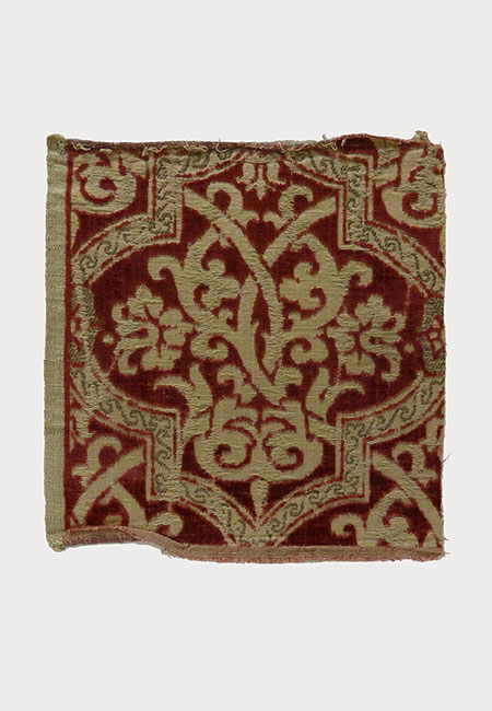 Silk and Metal Textile Fragment (18th Century) Missouri Historic Costume and Textile Collection, University of Missouri
