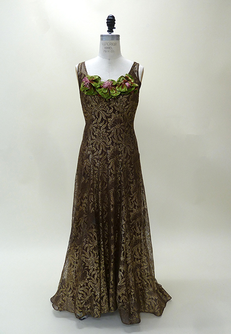 Metallic Lace and Silk Evening Gown (1937) Missouri Historic Costume and Textile Collection, University of Missouri