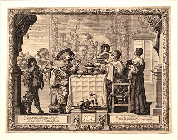 'Le Goût (Taste)', Print by Abraham Bosse (ca. 1638) Museum of Art and Archaeology, University of Missouri