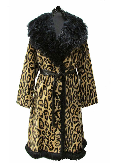 Faux Fur Leopard Print Coat (1967) Gift of Litherland Smith