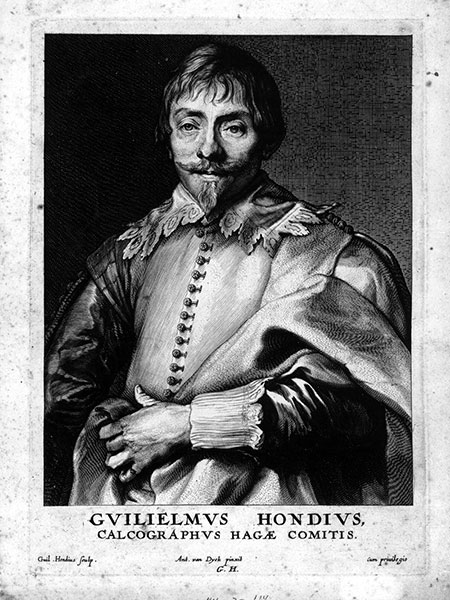 'Portrait of Guilielmus Hondius', Print by Guilielmus Hondius after a painting by Anthony van Dyck (Mid 17th Century) Museum of Art and Archaeology, University of Missouri