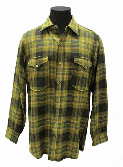 Wool Plaid Shirt Label Pendleton (1960s)