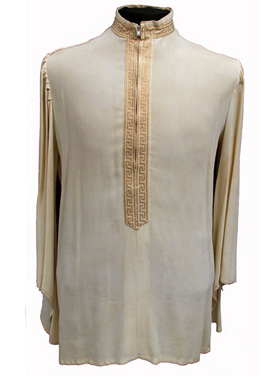 Silk Crepe Shirt with Metallic Trim Label Doms of Carnaby Street (1967) Gift of McKinsey