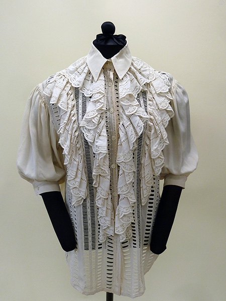 Silk and Lace Shirt by Gianfranco Ferré (1980s) Missouri Historic Costume and Textile Collection, University of Missouri