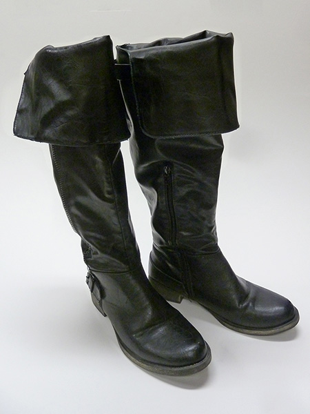 Thigh-High Leather Boots (2012) N. Johnston