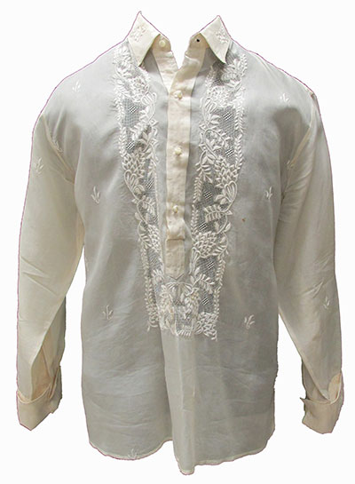 Filipino Pineapple Fiber Shirt (Barong) (1960s) Gift of Walker