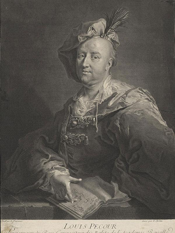 'Portrait of Louis Pécour'; by Robert Levrac-Tournières (c.17th Century) © Victoria and Albert Museum, London