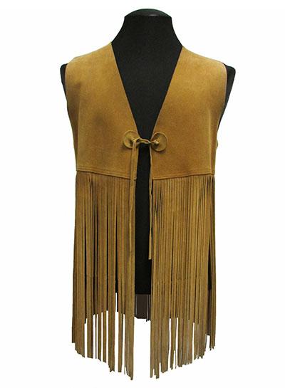 Buckskin Leather Fringed Vest (1960s) Gift of Kaufmann