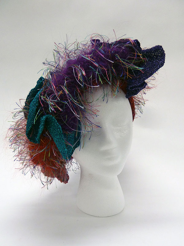 Multi-Colored Knit Hat (1980s) Missouri Historic Costume and Textile Collection, University of Missouri