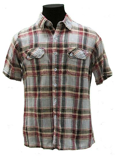 Plaid Cotton Shirt (1960s) Gift of Wilson, L.