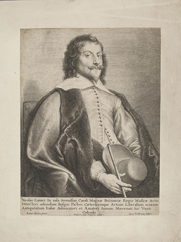 'Print Depicting Nicholas Lanier'; by Jan Lievens, Harry Beard Collection (ca Mid-17th Century) © Victoria and Albert Museum, London