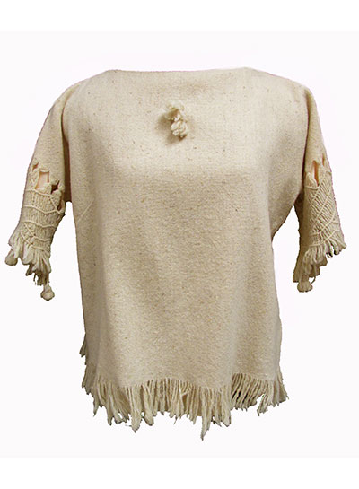 Wool Bodice with Macrame Trim (1960s) Gift of Cope