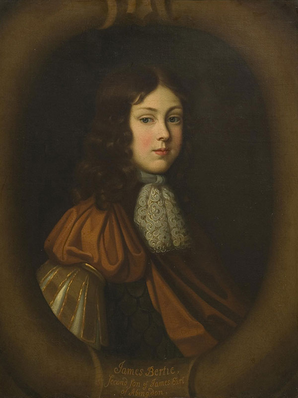 'Portrait of James Bertie, Second Son of James, Earl of Abingdon', by Sir Peter Lely (Late 17th Century) © Victoria and Albert Museum, London