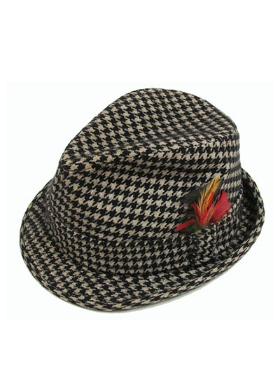 Wool Houndstooth Tyrolean Hat (1960s-70s) Gift of Roets-Dorband