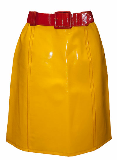 Vinyl Skirt (1960s) Gift of Elrod