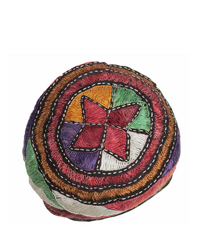 Embroidered African Skull Cap (1960s) Gift of Berryman Family