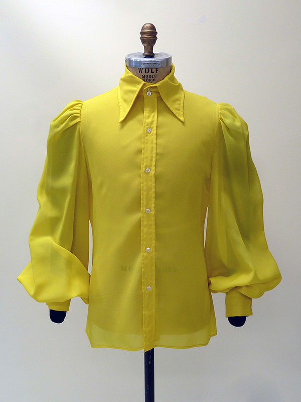 Polyester Crepe Shirt with Peasant Sleeves (1968) Missouri Historic Costume and Textile Collection, University of Missouri