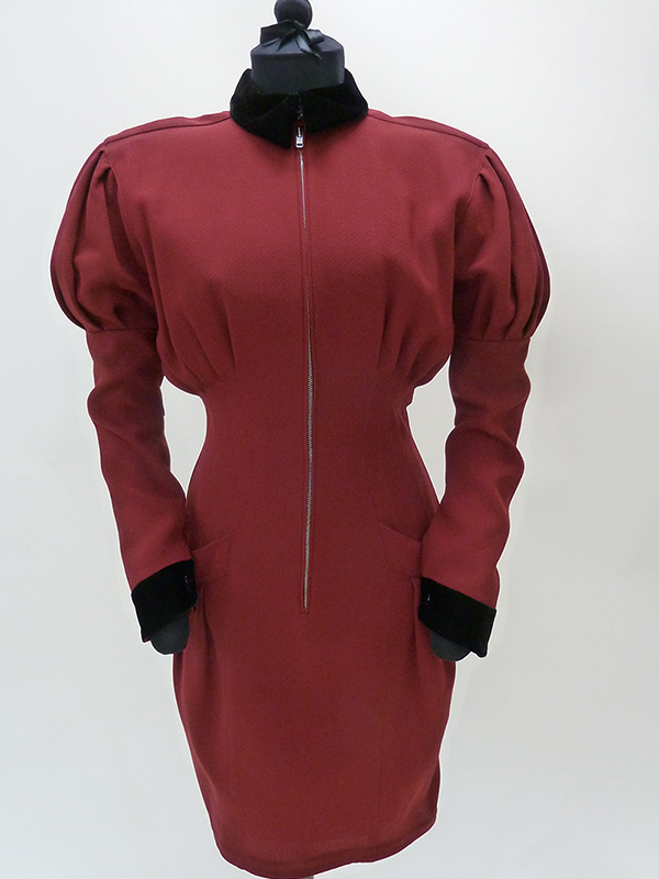 Wool Dress with Juliet Sleeves by Thierry Mugler (1988) Missouri Historic Costume and Textile Collection, University of Missouri