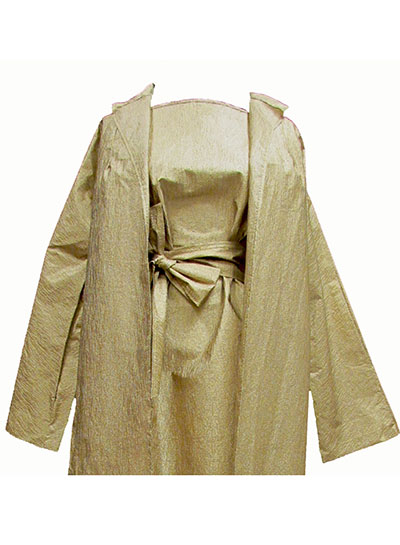 Metallic Paper Dress and Coat (1960s) Gift of Boone County Historical Society
