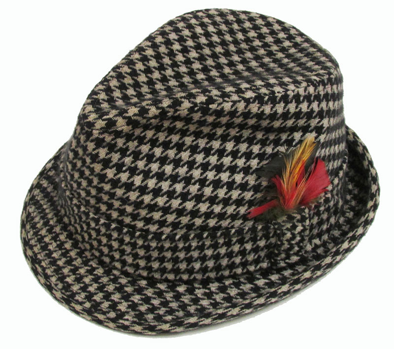 1960s-70s Wool Houndstooth Hat