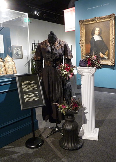 Hat and Umbrella Accents by Hannah Stallbaumer and Bailey Lawson; Wool and Silk Coat (1900s-10s) MHCTC
