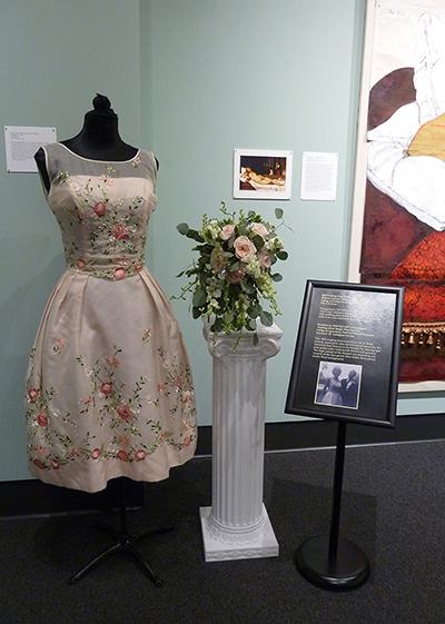 Bouquet by Halli Karr and Lauren Zigman; Silk Wedding Dress (1962) MHCTC